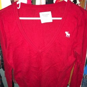 Abercrombie & Fitch red sweater